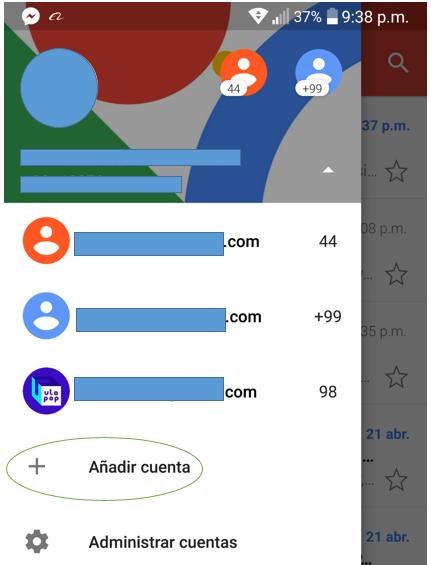 Paso 1 para añadir tu correo de Migadu en la aplicación de Gmail