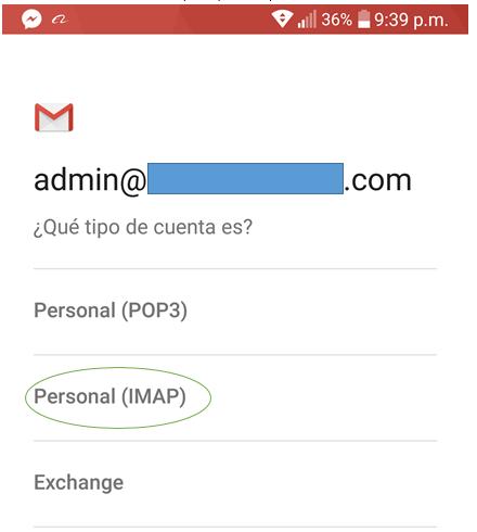 Paso 4 para añadir tu correo de Migadu en la aplicación de Gmail